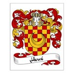 Herve Family Crest Small Poster