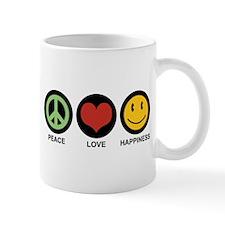 Peace Love Happiness Small Mug