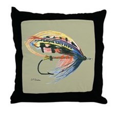 Fishing Lure Art Throw Pillow