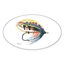Fishing Lure Art Oval Decal