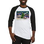 XmasMagic/Pekingese (R) Baseball Jersey