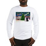 XmasMagic/2 Poodles (st) Long Sleeve T-Shirt