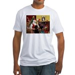 Santa's Poodle (ST-B4) Fitted T-Shirt