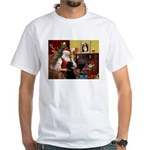 Santa's Poodle (ST-B4) White T-Shirt