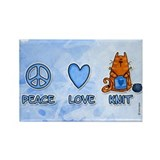 peace, love, knit Rectangle Magnet