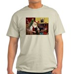 Santa's Black Pug Light T-Shirt