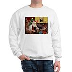 Santa's Black Pug Sweatshirt
