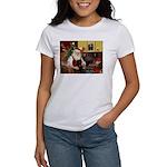Santa's Black Pug Women's T-Shirt