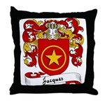 Jacques Family Crest Throw Pillow