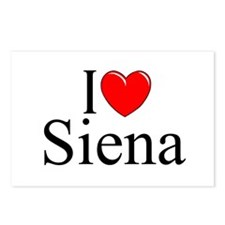 """I Love (Heart) Siena"" Postcards (Package of 8)"