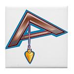 The Masonic Plumb, Square and Gage Tile Coaster