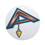The Masonic Plumb, Square and Gage Ornament (Round