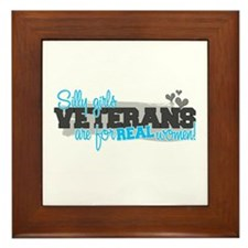 Real women: Veterans Framed Tile