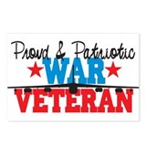 Proud War Veteran Postcards (Package of 8)