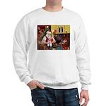 Santa's Schnauzer (9) Sweatshirt
