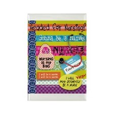 Headed to Nursing School Rectangle Magnet (10 pack