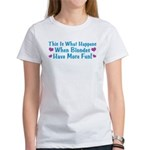 Pregnant Blonde Women's T-Shirt