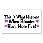 Pregnant Blonde Rectangle Sticker 10 pk)