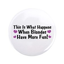 "Pregnant Blonde 3.5"" Button"