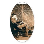 Tesla-3 Oval Sticker (10 pk)