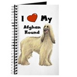 I Love My Afghan Hound Journal