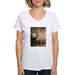 Tesla-3 Women's V-Neck T-Shirt