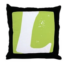Stamped Letter L Throw Pillow
