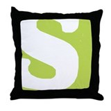 Stamped Letter S Throw Pillow