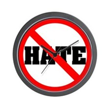 NO HATE Wall Clock