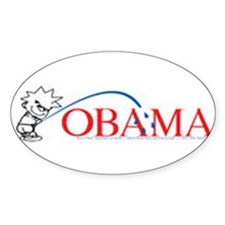 Piss on Obama Oval Decal