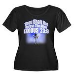 Exodus Women's Plus Size Scoop Neck Dark T-Shirt