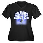 Exodus Women's Plus Size V-Neck Dark T-Shirt