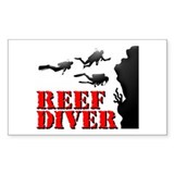 Reef Diver Rectangle Decal