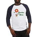 Flower Garden Diva Baseball Jersey