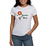 Flower Garden Diva Women's T-Shirt