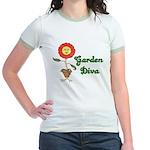 Flower Garden Diva Jr. Ringer T-Shirt
