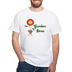Flower Garden Diva White T-Shirt