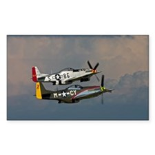 P-51 Mustang formation Rectangle Decal