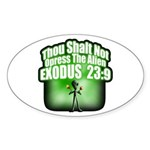 Exodus Oval Sticker