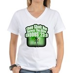 Exodus Women's V-Neck T-Shirt