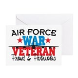 Air Force War Veteran Greeting Cards (Pk of 20)