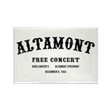 altamont free concert Rectangle Magnet