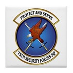 75th Security Forces SQ Tile Coaster