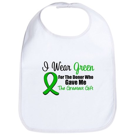 I Wear Green Gift of Life Bib