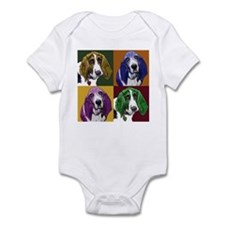 Basset Hound Duo Infant Bodysuit