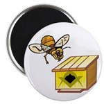 The Masonic Bee Lodge Magnet