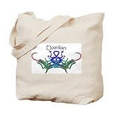 Damian's Celtic Dragons Name Tote Bag