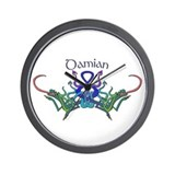 Damian's Celtic Dragons Name Wall Clock
