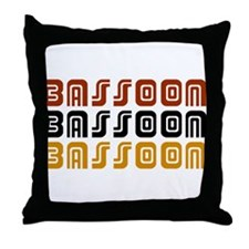 Tribal Bassoon Throw Pillow