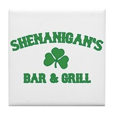 shenanigan's bar & grill Tile Coaster